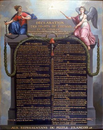 La Déclaration des droits de l'homme et du citoyen (tableau) - illustration 1
