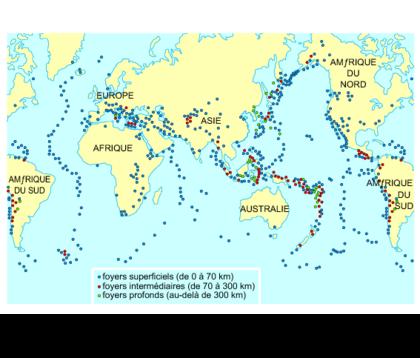 Les régions sismiques dans le monde - illustration 1