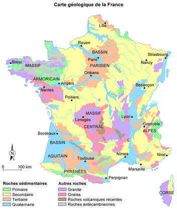 Carte géologique de la France - illustration 1