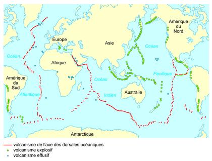 La répartition mondiale des volcans - illustration 1