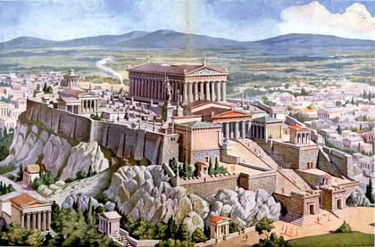 L'Acropole d'Athènes du temps de la Grèce antique - illustration 1