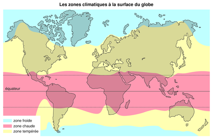 Les zones climatiques à la surface du globe - illustration 1