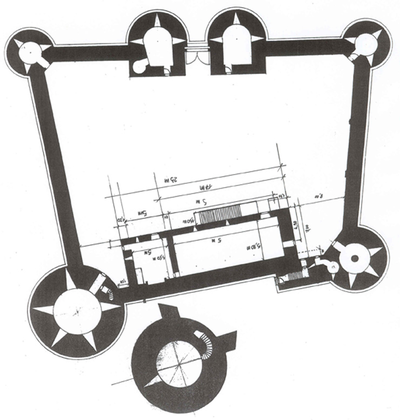 Plan du château de Guédelon