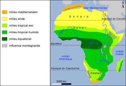 Les milieux en Afrique - illustration 1