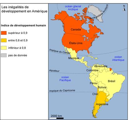 Les inégalités de développement en Amérique - illustration 1