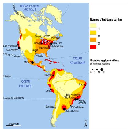 La répartition de la population en Amérique - illustration 1