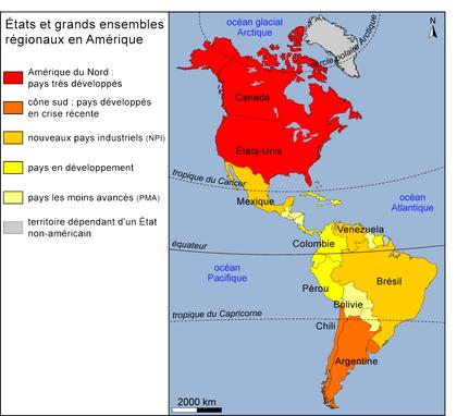 États et grands ensembles régionaux en Amérique - illustration 1