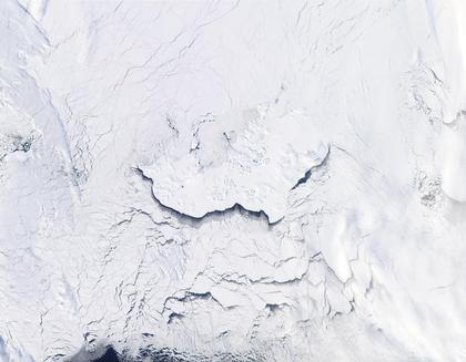 Archipel dans l'océan Arctique