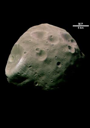 Phobos, une des deux lunes de Mars