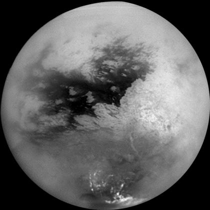 Surface de Titan, première lune de Saturne