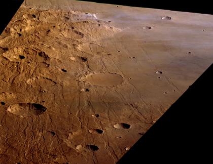 Vue de la région martienne de Claritas Fossae