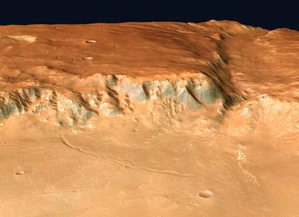 La vallée martienne d'Uzboi