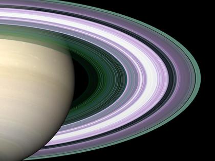 Saturne et ses anneaux (vue d'artiste)