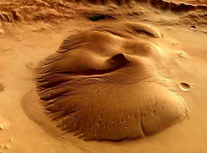 Le cratère Nicholson sur la planète Mars