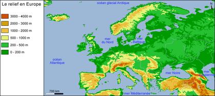 Le relief en Europe - illustration 1