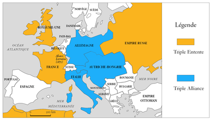 triple alliance triple entente 1914
