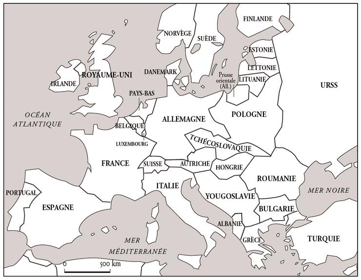 L'Europe en 1920   Base documentaire en histoire   Ressources pour