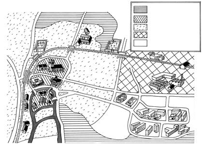 Plan de la ville de Meaux et sa banlieue - illustration 1