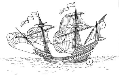 Une caravelle - illustration 1