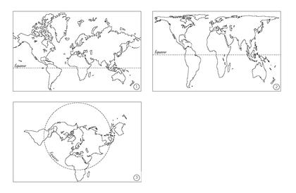 Trois représentations différentes de la Terre - illustration 1