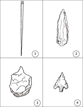 Les outils des hommes préhistoriques - illustration 1