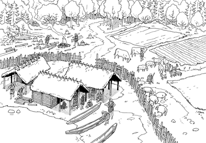 Reconstitution du village de charavine - illustration 1
