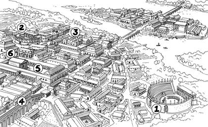 Reconstitution de Lutèce au IIe siècle - illustration 1