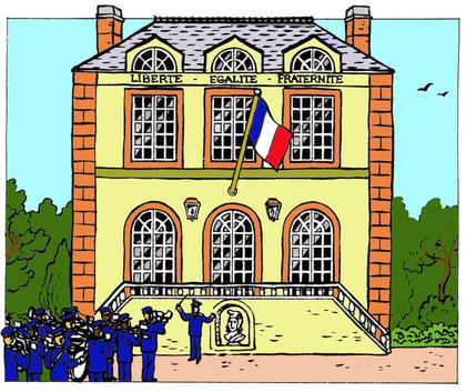 Une mairie française - illustration 1