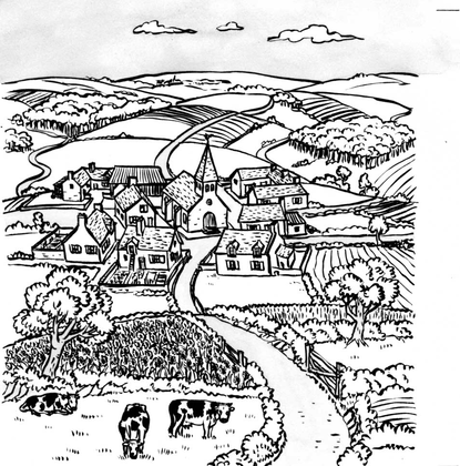 Un village de campagne - illustration 1