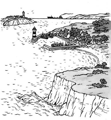 Un paysage de bord de mer - illustration 1