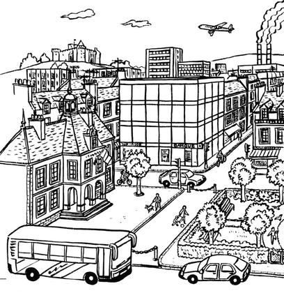 Un paysage urbain - illustration 1