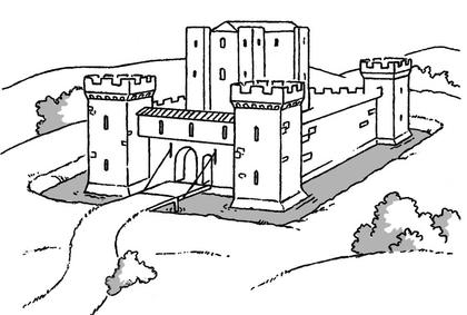 Le ch teau fort du moyen ge base documentaire en histoire ressources pour les enseignants - Chateau a imprimer ...