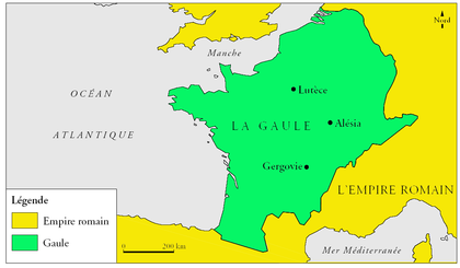 Carte historique de la Gaule au temps de Vercingétorix - illustration 1
