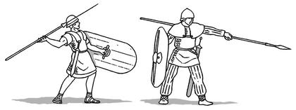 Costumes de soldats romains et gaulois - illustration 1