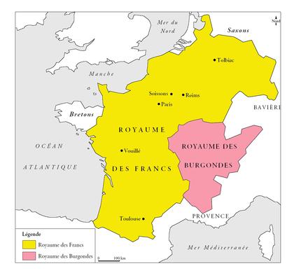 Le royaume des Francs sous le règne de Clovis - illustration 1