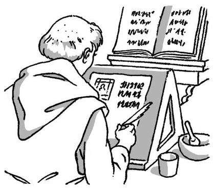 Le travail du copiste au Moyen Âge - illustration 1