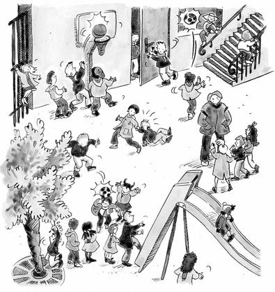 Les règles de sécurité à l'école - illustration 1