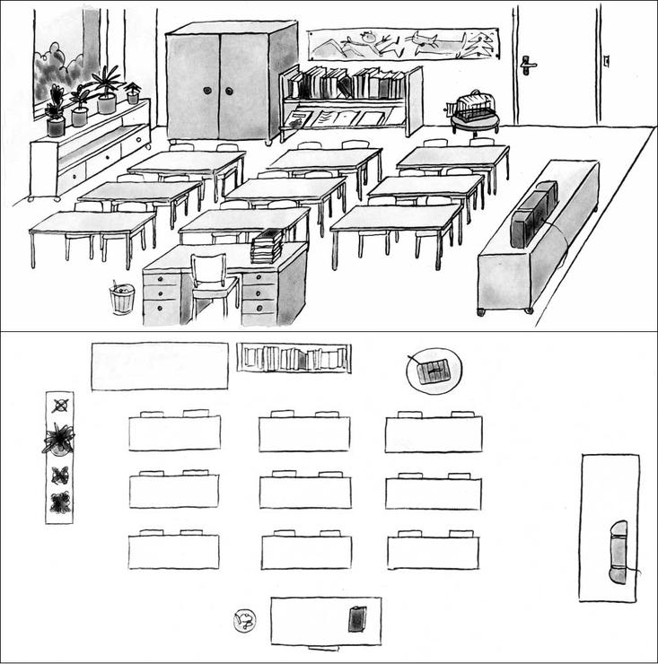 image fde11es01i01 le plan d 39 une salle de classe base documentaire en g ographie. Black Bedroom Furniture Sets. Home Design Ideas