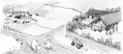 Un paysage de campagne - illustration 1