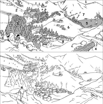 La montagne en été et en hiver - illustration 1