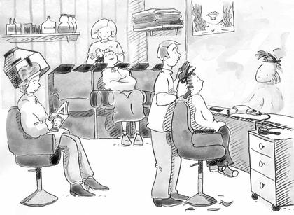 Chez le coiffeur - illustration 1