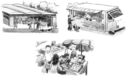 Sur le marché - illustration 1