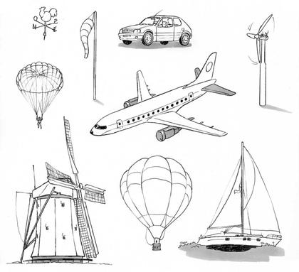 Le vent dans la vie quotidienne - illustration 1