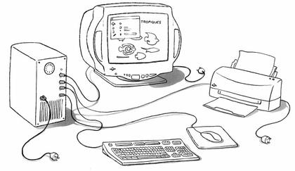 Les branchements d'un ordinateur - illustration 1