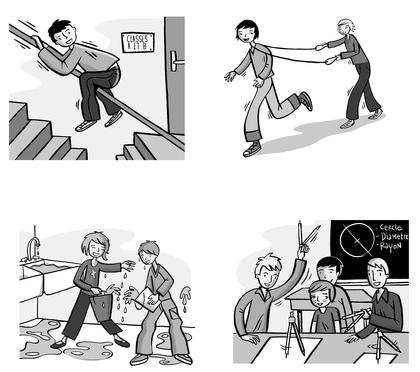 Les règles de sécurité à l'école (3) - illustration 1