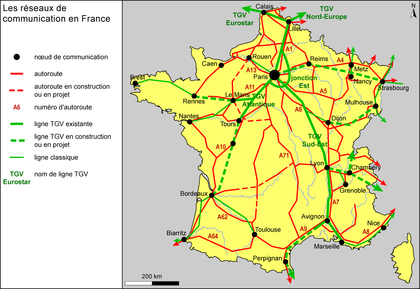 Les réseaux de communication en France - illustration 1