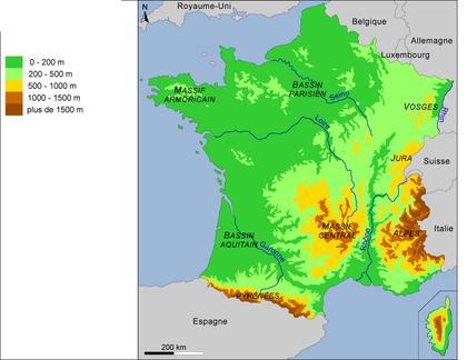 Le relief de la France - Base documentaire en géographie - Ressources pour les enseignants ...