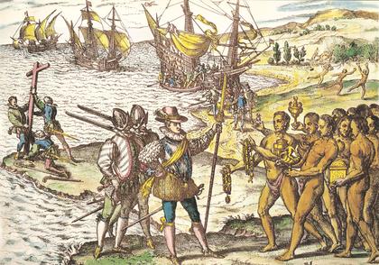 Arrivée de Christophe Colomb à Hispaniola - illustration 1