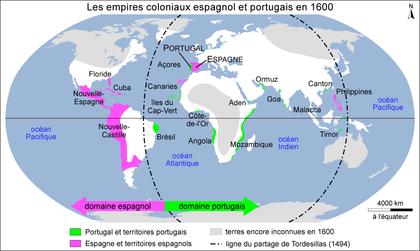 Les empires coloniaux espagnol et portugais en 1600 - illustration 1