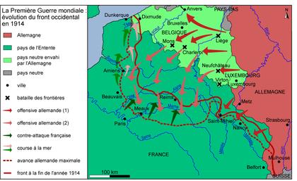 Le front occidental en 1914 - illustration 1